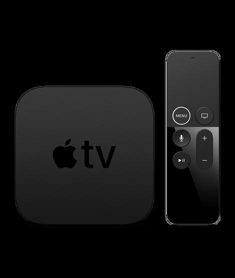 apple tv box and remote